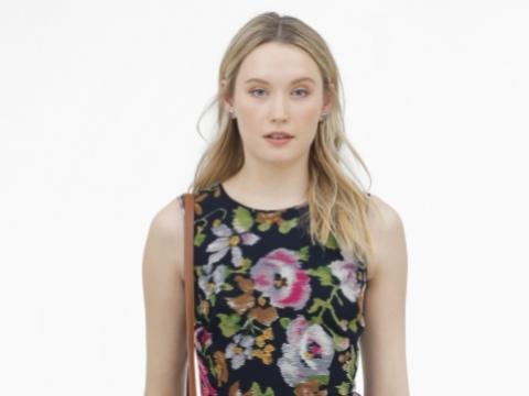 黑色大花圖案連身裙HK$1,990