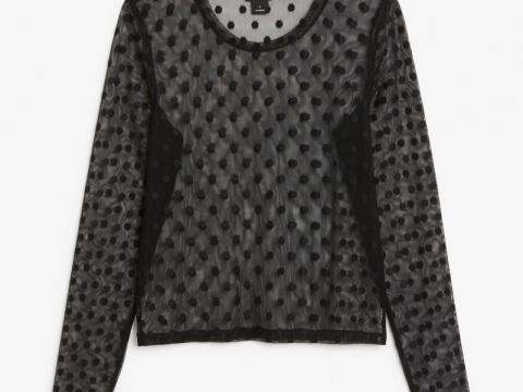 Black colour dot pattern top HK$120 (Monki)