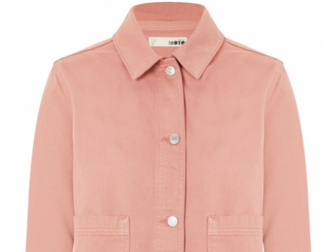 Rose Denim Shacket HK$412 (TOPSHOP)