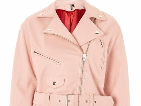 Pink Leather Biker Jacket $2,006 (TOPSHOP)
