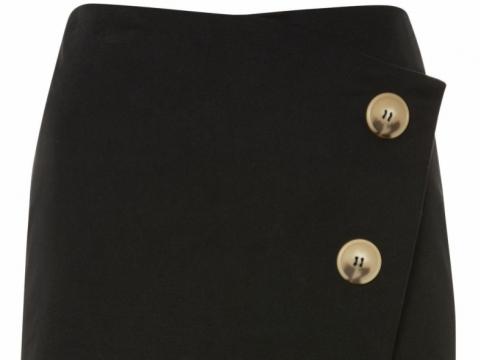 Twill Asym Wrap Skirt HK$321 (TOPSHOP)