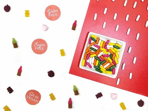 愛甜又怕罪惡感的話,要先拜會女神歌莉亞(Guilt Free Gloria),讓她為大家介紹低罪疚感的糖果及朱古力,當中包括全素及不含乳糖及明膠的「一日五糖果Five A Day」HK$48。
