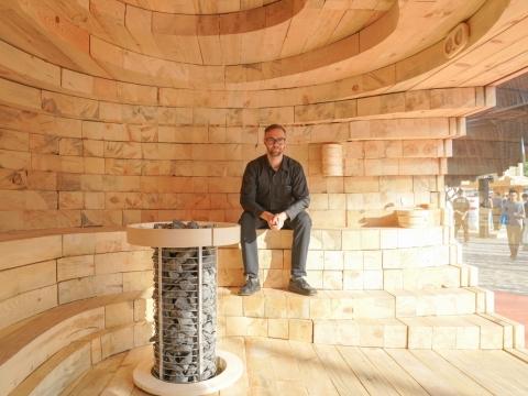 Ville Hara與他的戶外桑拿Sauna Kolo