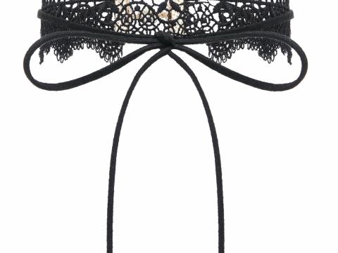 黑色lace choker HK$100(Accessorize)
