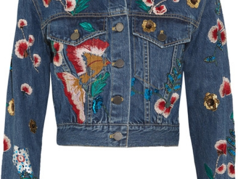 Chloe Embroidered Sequined Denim Jacket HK$6,840 (ALICE + OLIVIA)