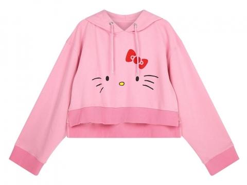 粉紅色Kitty樣連帽衛衣 HK$427