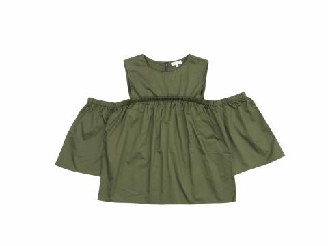 b+ab軍綠色露肩上衣 原價:HK$599 折實價:HK$159