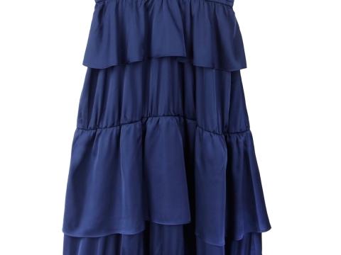 b+ab深藍綢緞長裙 $899