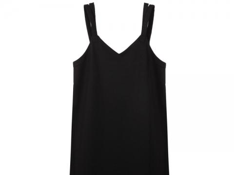 b+ab素黑吊帶連身裙 $459