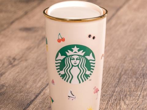 ban.do + STARBUCKS®繽紛夏日雙層咖啡杯 HK$230