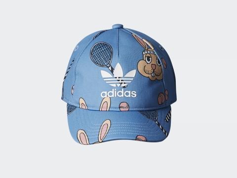 adidas Originals x Mini Rodini粉藍兔子運動帽 $250