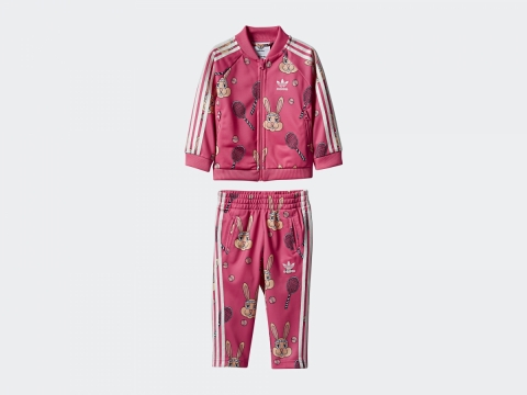 adidas Originals x Mini Rodini粉紅兔子運動套裝 $650