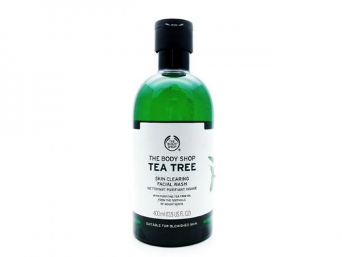The Body Shop Tea Tree Skin Clearing Facial Wash茶樹潔面啫喱  HK$189/400ml