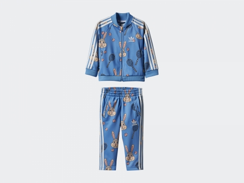 adidas Originals x Mini Rodini粉藍兔子運動套裝 $650