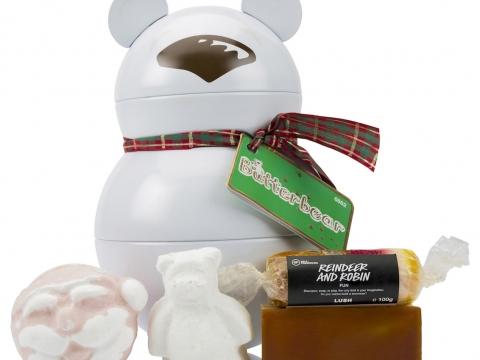 Butterbear北極小熊禮盒包括蜜糖兒香氛皂、北極小熊汽泡彈及哈哈伯伯汽泡彈等。$360