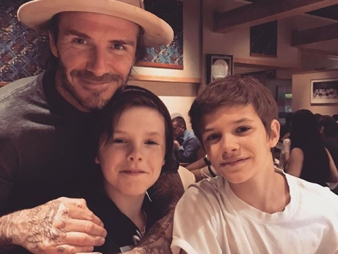 Cruz & Romeo & David Beckham