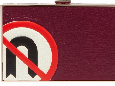 Anya Hindmarch Imperial No U Turn textured-leather clutch HK$ 9,057 to HK$ 2,264 (75% off)