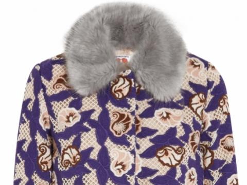 Shrimps Marie faux fur-trimmed crocheted coat HK$ 12,093 to HK$ 2,418 (80% off)