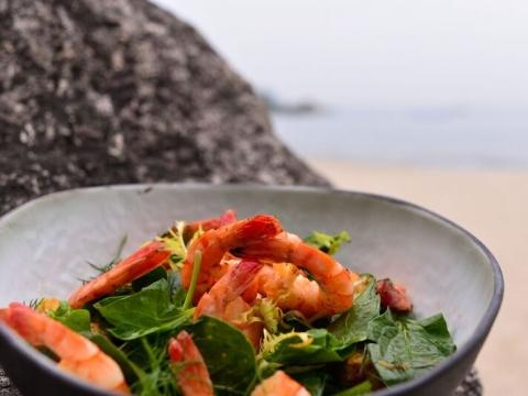 蒜香蝦沙律