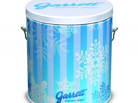 兩罐四分一加侖節日禮罐裝的朱古力焦糖脆脆爆谷優惠價 $178
