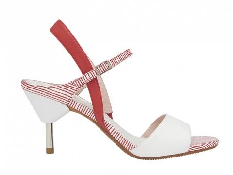 紅白撞色幼踭涼鞋 $1,199