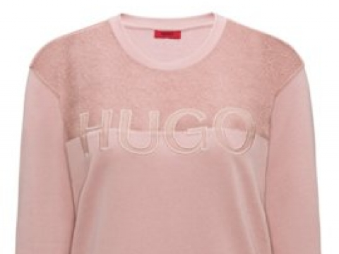 Signature Sweater with Lace Panel HK$1,290 (HUGO)