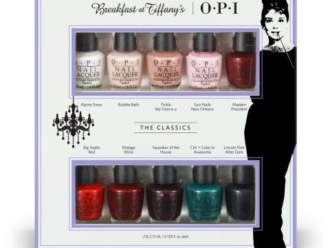 O.P.I Breakfast at Tiffany's Collection 10色迷你甲油套裝 $199