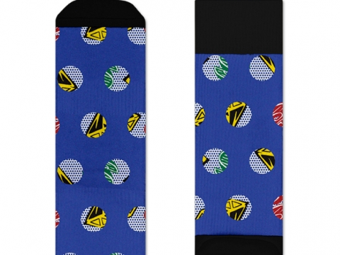 HS x BBC Athletic blue space socks $160