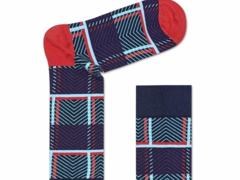 HS x Iris Apfel stripped socks$110