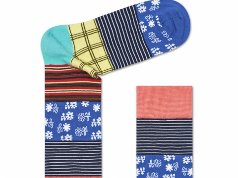 HS x Iris Apfel floral and stripped socks $110
