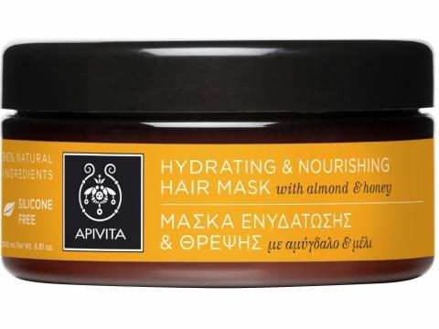 Apivita深層滋潤護髮膜蘊含小麥胚芽油、有機杏仁油及印加果籽油,深層滋養及修護損傷髮絲,改善髮尾開叉現象。$320/200ml
