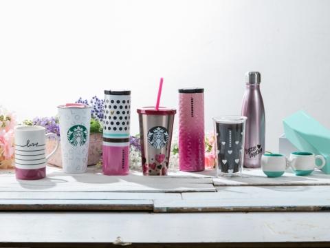 情人節系列咖啡杯由$140至$370。
