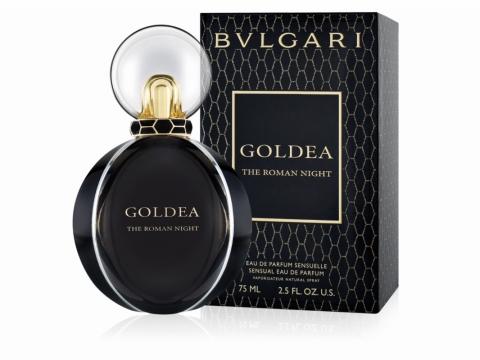 BVLGARI Goldea The Roman Night 以黑牡丹配上茉莉花和晚香玉精油,最後由黑麝香、廣藿香心、香根草作結。HK$1,080/75ml