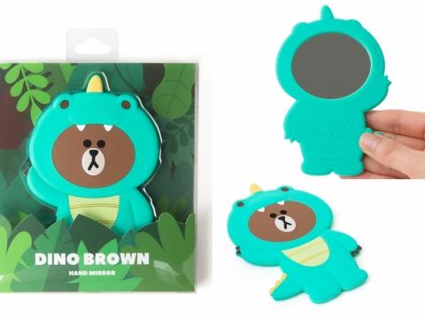 勇敢的DINO BROWN是隻會噴火的恐龍。(手提鏡子 HK$100)