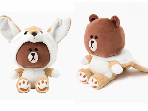 大耳朵FOX BROWN是隻再小的聲音都聽得見的狐狸。(25cm絨毛公仔 HK$290)