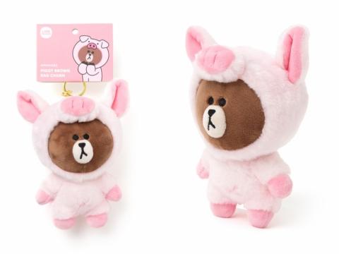 嚄嚄!PIGGY BROWN是隻饞嘴的小豬。(鎖匙扣 HK120)
