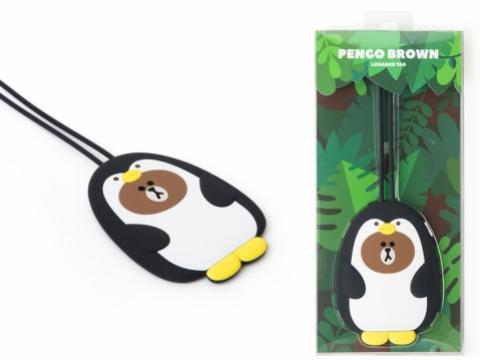 愛打扮的PENGO BROWN是隻喜歡穿著黑禮服的企鵝。(行李掛牌 HK$95)