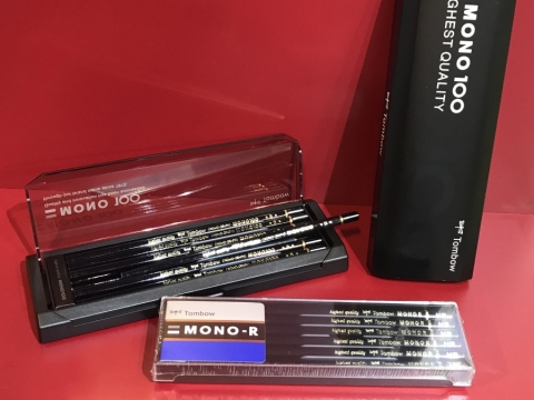 MONO 100盒裝鉛筆(HK$100)、MONO R盒裝鉛筆(HK$50),書展有得賣!