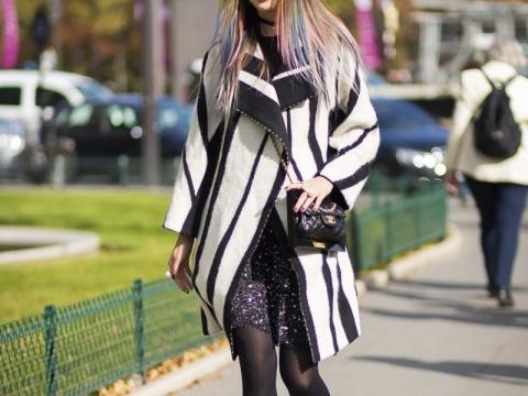 Irene Kim的七彩髮色街拍