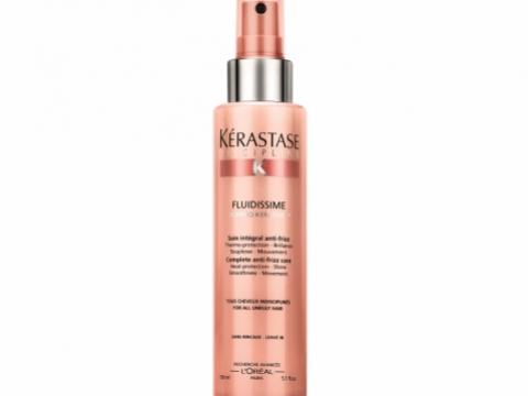 Kerastase Fluidissime吹燙順滑噴霧,水狀質地的噴霧,於吹髮前噴上,賦予秀髮光澤柔順感,長效72小時。$400/150ml