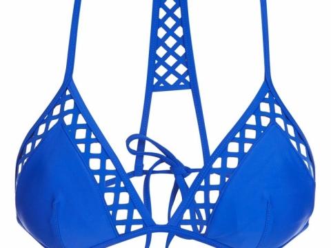TOPSHOP Lazercut Triangle Bikini Top $229