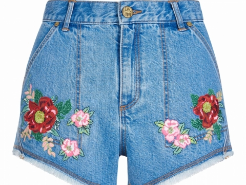 House of Holland Lee x HOH floral embroidered denim shorts HK$1,107