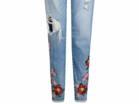 House of Holland Lee x HOH floral embroidered mom jeans HK$1,902