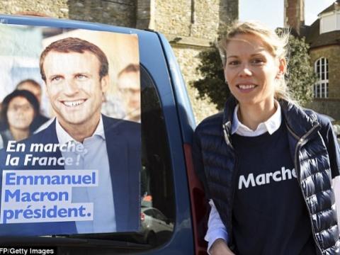 幼女Tiphaine有份協助馬克龍參選總統。