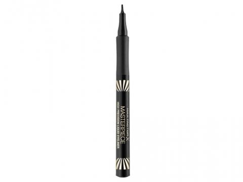 黑色眼線液 — 用來填補及修飾睫毛根部跟假睫毛之間的空隙和睫毛膠水漬。編輯推介︰Max Factor Masterpiece High Precision Liquid Eyeliner HK$98