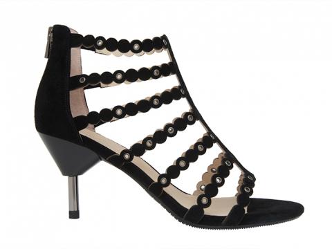 黑色多帶幼踭涼鞋 $1,299