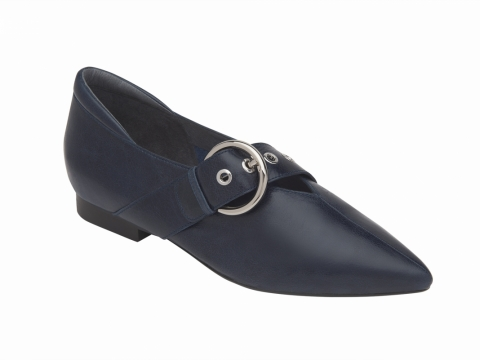 millie's 金屬圓扣尖頭鞋 (深藍) $1,299