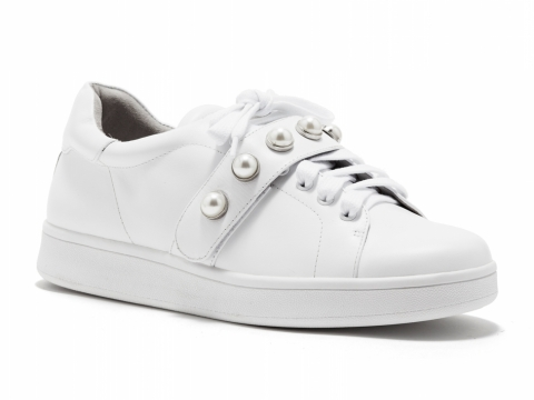 PEDDER RED X fleamadonna White leather sneaker $1,590