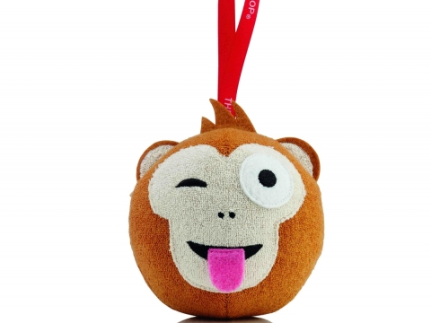 Festive Limited Edition Bath Sponge節日限量版沐浴海綿以瀕危動物白臀葉猴Reggie為造型設計。$79