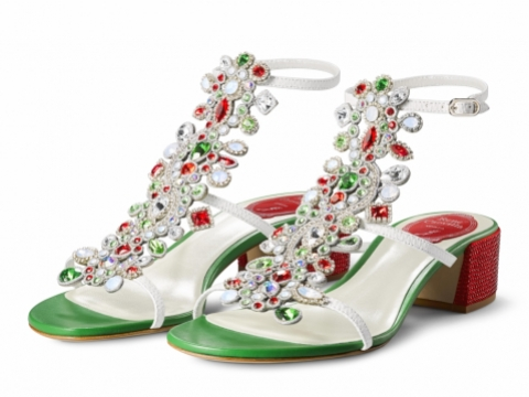 RENÉ CAOVILLA Grand Tour水晶高跟涼鞋 $9,250